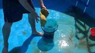 Čištění bazénu po zimě