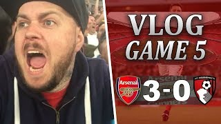 ARSENAL 3 v 0 BOURNEMOUTH | VERY EASY WIN AGAINST A POOR SIDE | Matchday Vlog