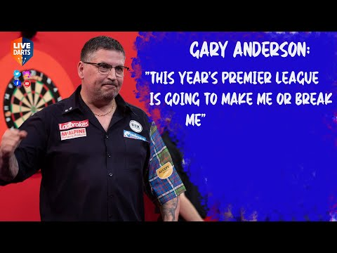 """Gary Anderson: """"This year's Premier League is going to make me or break me"""""""
