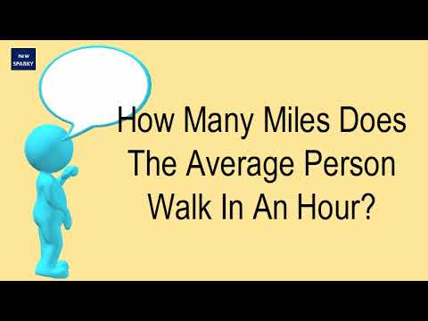 How Many Miles Does The Average Person Walk In An Hour?