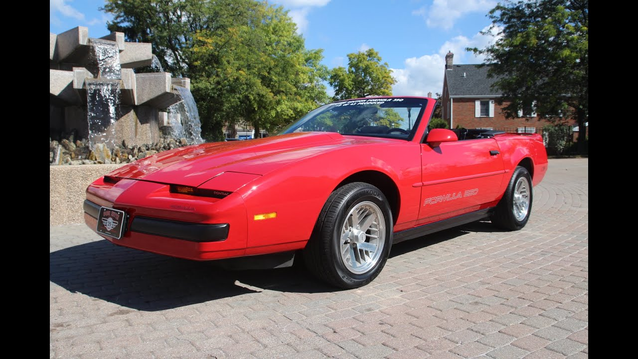 1989 firebird formula 350 convertible youtube. Black Bedroom Furniture Sets. Home Design Ideas