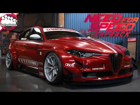 NEED FOR SPEED PAYBACK - Alfa Romeo Giulia Quadrifoglio - Racerbuild - NFS Payback Carbuild