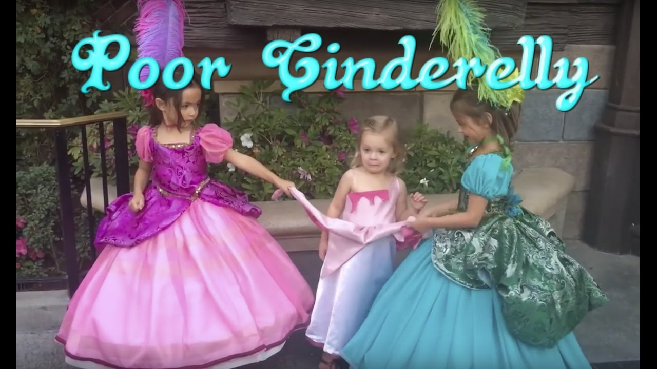 Cinderella u0026 Wicked Stepsisters @ Disneyland  sc 1 st  YouTube & Cinderella u0026 Wicked Stepsisters @ Disneyland - YouTube