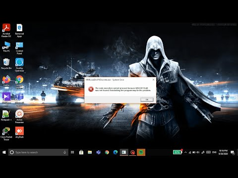How to fix MSVCR110.dll was not found/missing in Windows 10  MSVCR110.dll is Missing