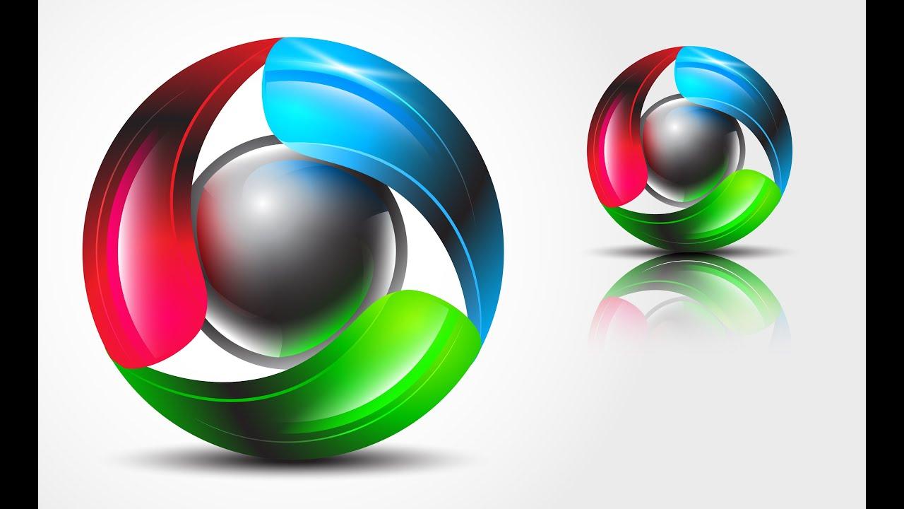 How to create 3D Logo Design in Adobe Illustrator CS6 | HD | TRI2