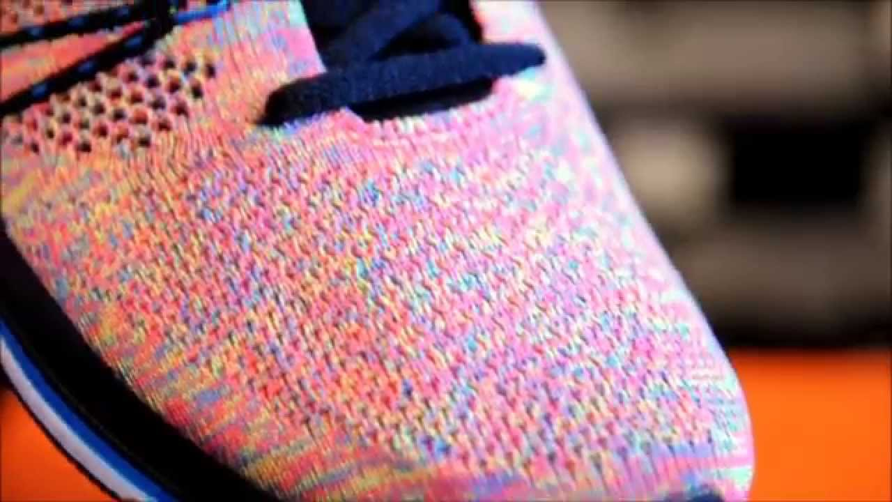 c6313351522c Nike Flyknit Trainer +   Multicolor   (532984 014) - YouTube