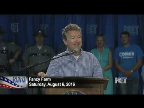 Rand Paul Attacks Hillary Clinton and Jim Gray | Fancy Farm 2016