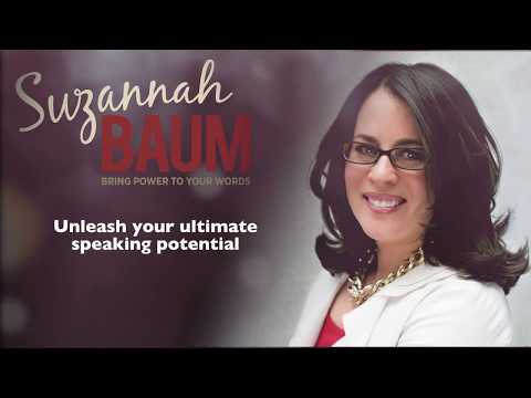 Suzannah Baum Speaker on Outstanding Presentations/Public Speaking Demo Reel
