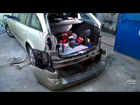 Снятие заднего бампера Рено Лагуна 2. Removing bumper Renault Laguna 2 .