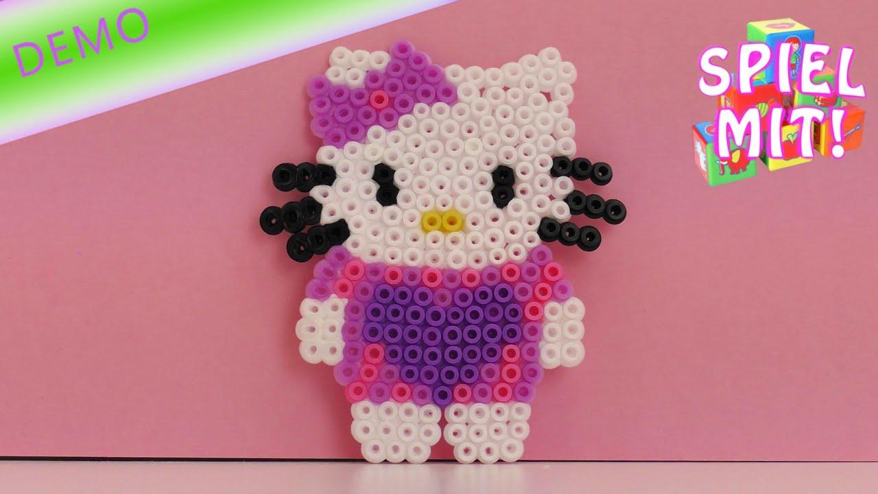 Bügelperlen Vorlagen Hello Kitty Anleitung Youtube