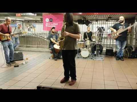 Wanderful performance of musicians in 34 street Subway station. New York