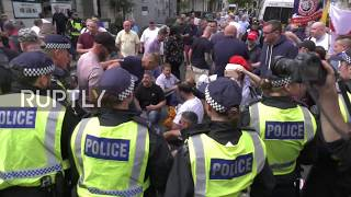 UK: Far-right and pro-Palestine supporters face off during London Al-Quds Day demo
