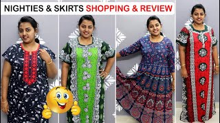 Nighties - Skirts Shopping Haul amp Review From 300 Rs Shopping Haul Meesho Shopping Haul