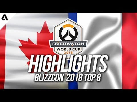 Team Canada vs Team France | Overwatch World Cup 2018 Quarterfinals Highlights