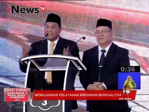 Debat Pilkada Aceh 2017 : Mewujudkan Pelayanan Birokrasi Berkualitas Part 04 - INews TV 31/01