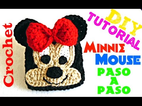 Minnie Mouse !!! - Bolsita Animada!!! TEJIDA A CROCHET - YouTube