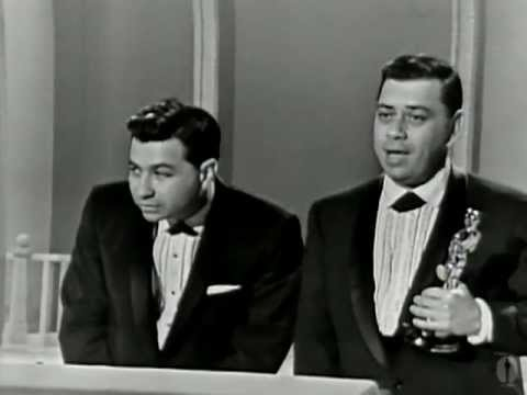 """The Sherman Brothers winning the Oscar® for Music Score for """"Mary Poppins"""""""