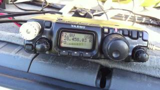 QRP YAESU FT-817 and YP-3 portable yagi.