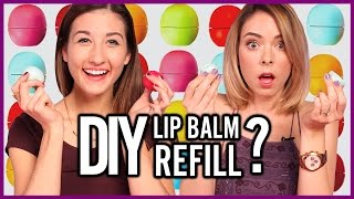 DIY EOS Lip Balm Refill - Makeup Mythbusters w/ Maybaby and Nikki Phillippi