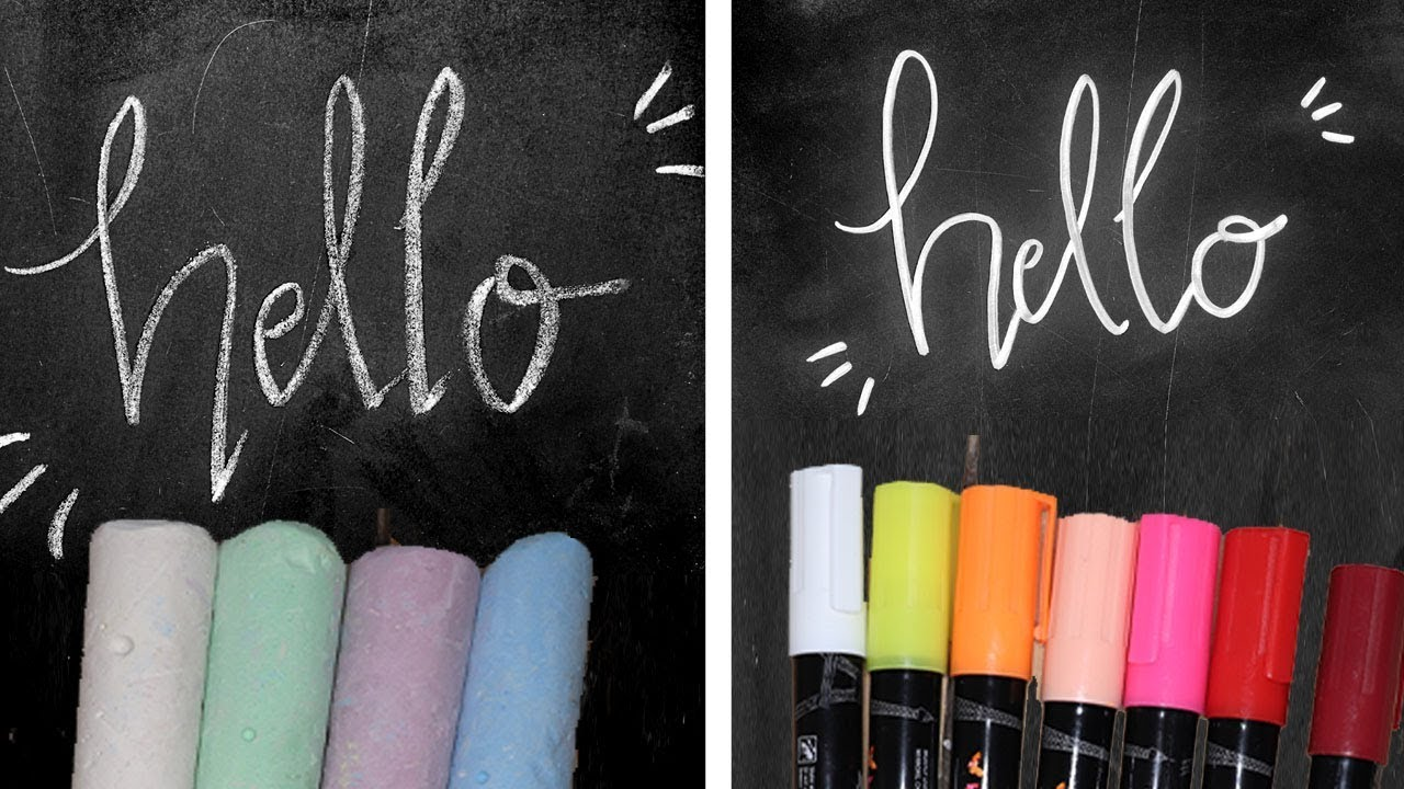 chalk vs liquid chalk markers comparing two types of chalks art