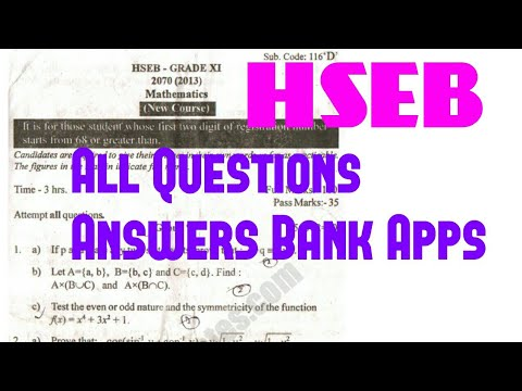 NEB Class 11,12 2074 Result  HSEB Results 2074,2017 and questions Answers 