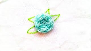 Как просто вышить розу. Роза паутинка. Примитивный мир.