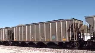 BNSF 8471 leads TXUX coal drag south at Pleasanton Kansas.
