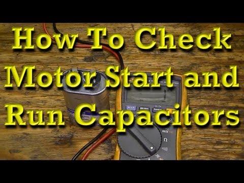 Broken fan motor diagnosis for repair doovi for Motor start capacitor test