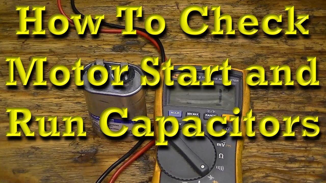 How To Check Motor Start And Run Capacitors Youtube Electric Starter Wiring Diagram