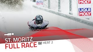 St. Moritz | BMW IBSF World Cup 2017/2018 - Women's Skeleton Heat 2 | IBSF Official