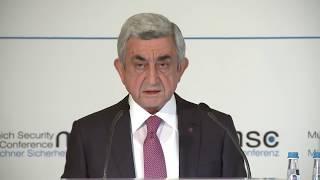 Սերժ Սարգսյանի ելույթը Մյունխենի անվտանգության համաժողովում