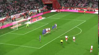 Robert Lewandowski Polska - Finlandia 5:0 rzut wolny