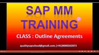 SAP MM Anahat Anlaşmaları