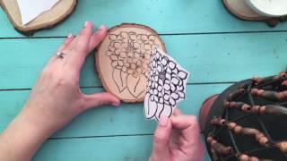 Full image transfer & woodburned coaster video!