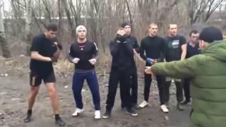 Драка (СТЕНКА НА СТЕНКУ) Боксёры против Борцов!!!!