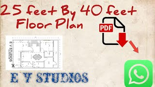 25 Feet By 40 Feet 111.11 Sq. Yards Ground Floor Plan Get Pdf On Whatsapp
