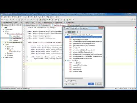 Android App Development Lesson   51   Creating a New SQLite Database