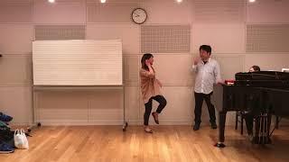 まず初めの発声練習♬ 自分の本来の声と向き合う「エー」 被験者4名(笑)