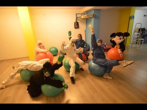 Coronavirus in Croatia: Centar plesa Split disinfection team at work #coronavirus