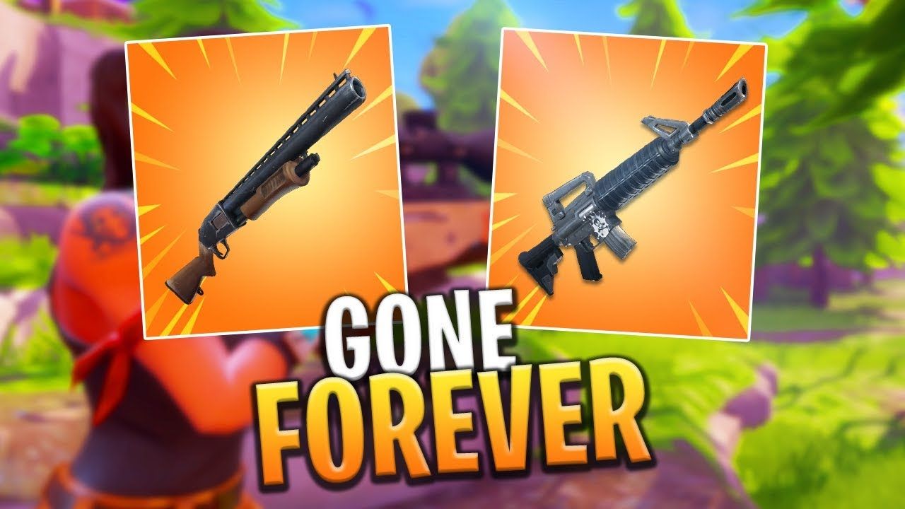 Two Weapons Are Getting Removed Next Update Fortnite Battle