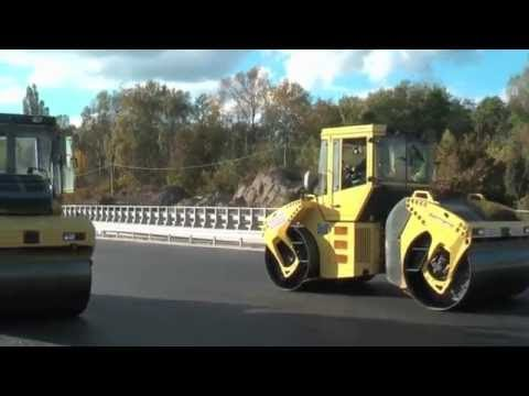World Amazing Modern Road Construction Asphalting VOGELE DYNAPAC Truck Mega Machines Europe