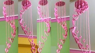 DIY Beautiful Wind Chimes with Plastic Bottles // Wallhanging using Woolen // plastic bottle craft