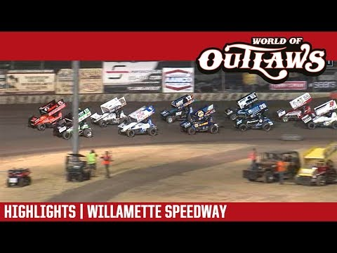 World of Outlaws Craftsman Sprint Cars Willamette Speedway September 5, 2018 | HIGHLIGHTS