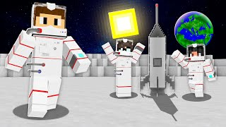 Download WE TOOK A MINECRAFT ROCKET TO THE MOON! Mp3 and Videos