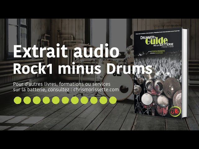Extrait audio Rock1 minus Drums - Drummer's Guide de la batterie