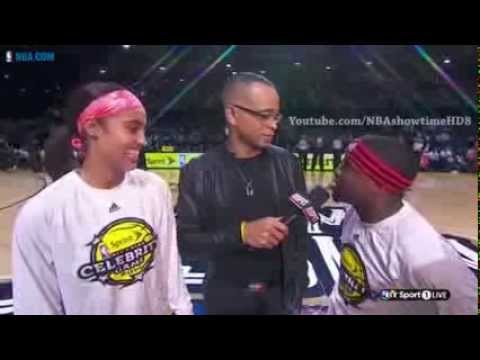 Kevin Hart & Skyler Diggins Pre Game Interview 2014 NBA All Star Weekend 2014