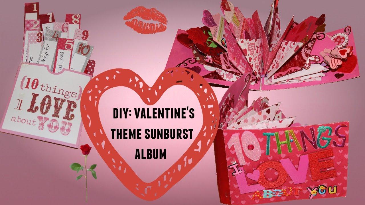 DIY: VALENTINE'S DAY IDEA! SUNBURST MINI ALBUM - YouTube