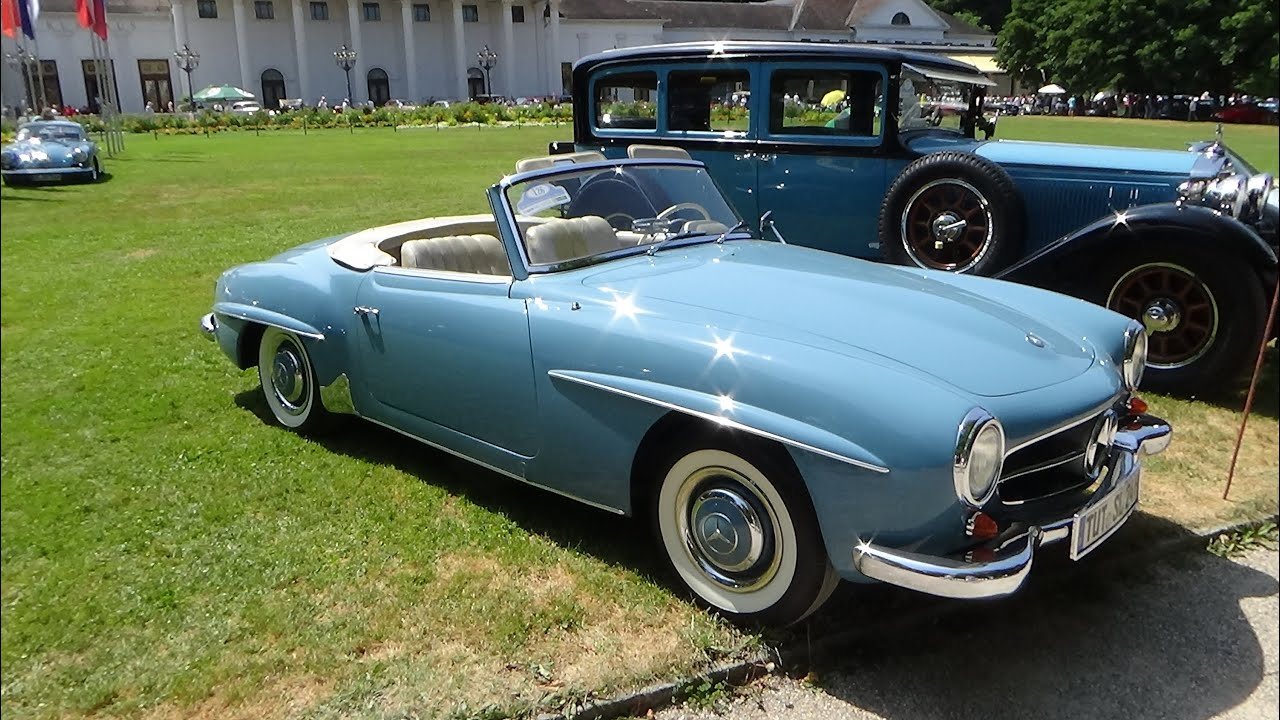 1961, Mercedes-Benz 190 SL, Exterior and Interior, Oldtimer Meeting Baden-Baden, 2015