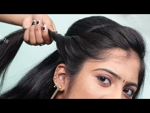 best girls hairstyles with trick || hairstyle for thin hair || party hairstyle || ladies hair style thumbnail