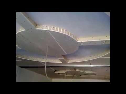 видео: гипсокартонный потолок 3. Круги с подсветкой. gypsum ceiling.